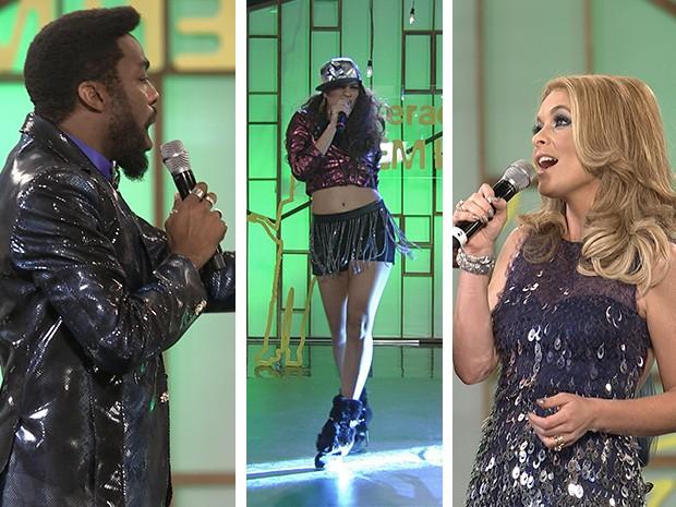 Brian Benson, Luene Michelle e Pamela Parker-Marra cantam no final do segundo GNN (Foto: Parker TV)