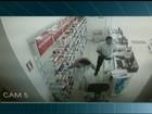 Câmeras flagram homem assaltando farmácia no sul do Tocantins