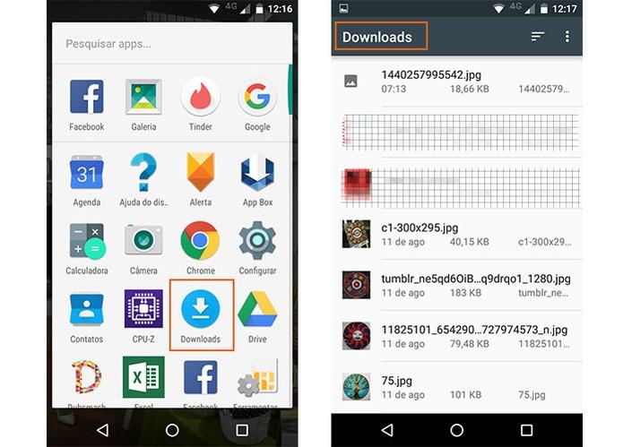 Acesse a pasta de downloads no Moto G 3 pelo Android (Foto: Reprodução/Barbara Mannara)