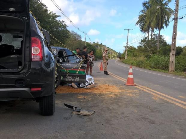 Taxista era acostumado a pegar aq estrada  (Foto: Waldson Costa/G1)