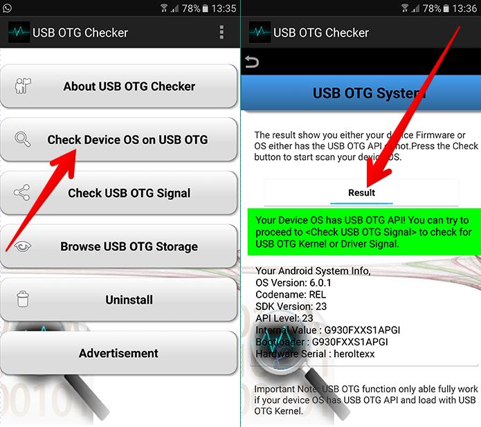 USB OTG Checker é um dos diversos aplicativos para Android que permitem verificar a compatibilidade do aparelho com o USB OTG (Foto: Reprodução/Filipe Garrett)