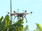 SP usará drone para monitorar os focos  (Reprodução GloboNews)