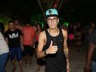 Neymar e a irmã, Rafaella Santos, curtem noite com amigos na Bahia