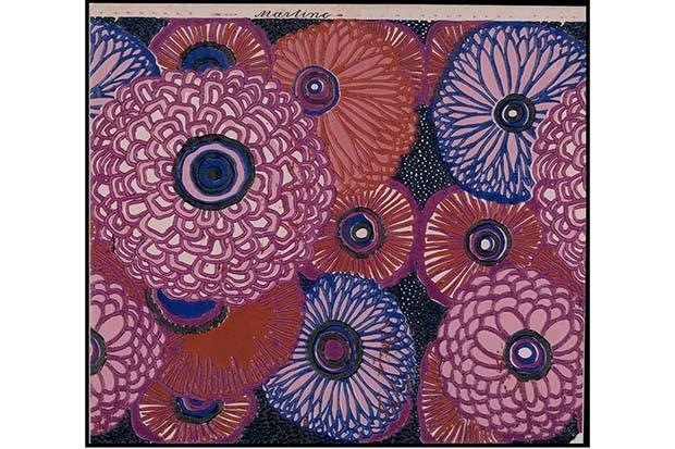 L'Atelier Martine for Paul Poiret: Wallpaper with repeated floral motif for the Desfossé and Karth company, 1919 (Foto: COPYRIGHT LES ARTS DÉCORATIFS, PARIS)