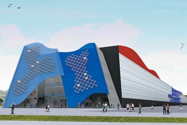 bonito e distante Projeto do laboratório de inovação da Poli-USP, do arquiteto Ruy Ohtake. A atual crise da universidade deve atrasar a obra (Foto: Divulgação)