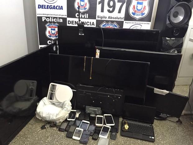 Operação apreendeu materiais e prendeu seis pessoas em Cuiabá. (Foto: Polícia Civil-MT/Assessoria)