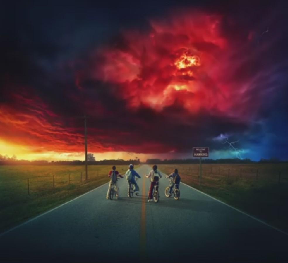 Imagem do pôster da segunda temporada de 'Stranger Things', programa da Netflix (Foto: Divulgação/Netflix)