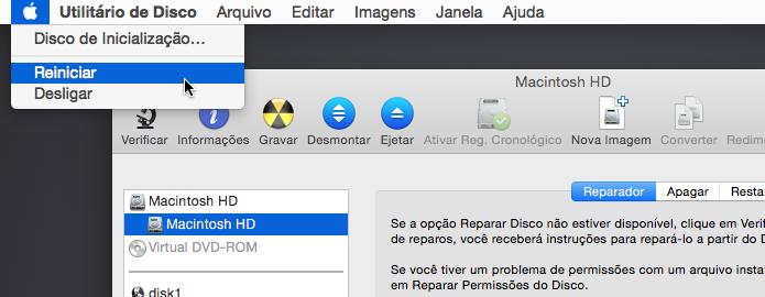 Reinicie o Mac em modo normal (Foto: Reprodução/Helito Bijora)