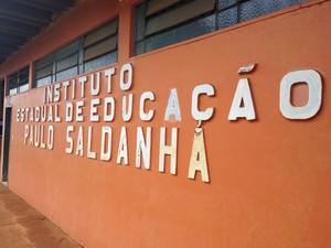 Instituto Estadual de Educação Paulo Saldanha (Foto: Dayanne Saldanha/G1)