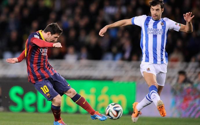 Messi Barcelona x Real Sociedad (Foto: AP)