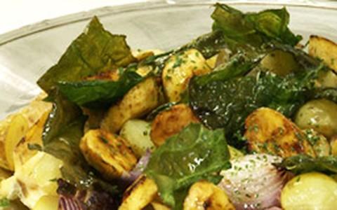 Bacalhau de forno com batatas e azeitonas