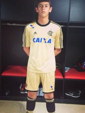 Yago Rafael, goleiro acreano que é jogador do sub-14 do Flamengo (Foto: Arquivo Pessoal)