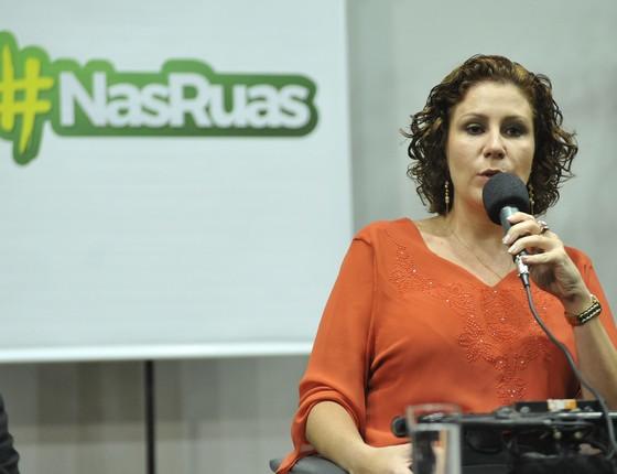 Carla Zambelli, líder do movimento Nas Ruas (Foto: Alex Ferreira / Câmara dos Deputados)