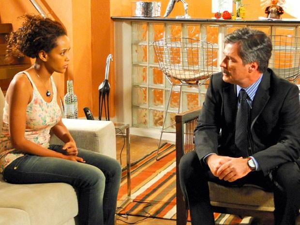 Penha dá fora em Otto (Foto: Cheias de Charme / TV Globo)