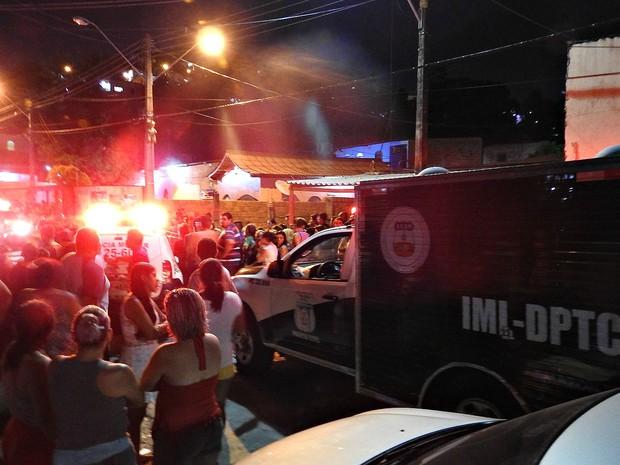 Crime ocorreu por volta das 19h30 na Rua Tamanduá, no bairro Cidade Nova (Foto: Indiara Bessa/G1 AM)