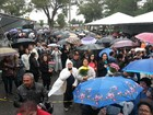 Fiéis participam de romaria de Nossa Senhora de Fátima, em Rio Grande