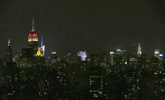 Empire State com as cores da Alemanha (Foto: EFE)
