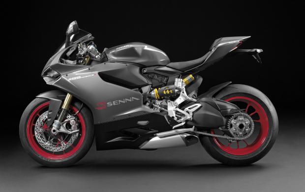 A Ducati versão Senna é equipada com motor de 1.198cm³ e 195 cv de potência (Foto: Divulgação)
