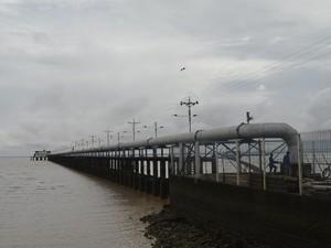 Audutora retém a água que é levada para as estações (Foto: Dyepeson Martins/G1)