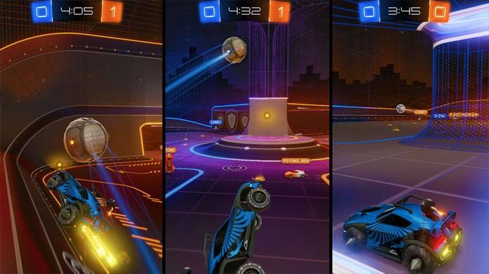 O modo Rocket Labs traz fases experimentais bem bizarras para Rocket League (Foto: Reprodução/GameSpot)