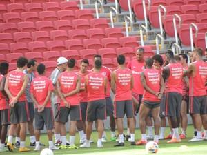 Inter faz treino antes do Gre-Nal (Foto: Tomás Hammes / GloboEsporte.com)