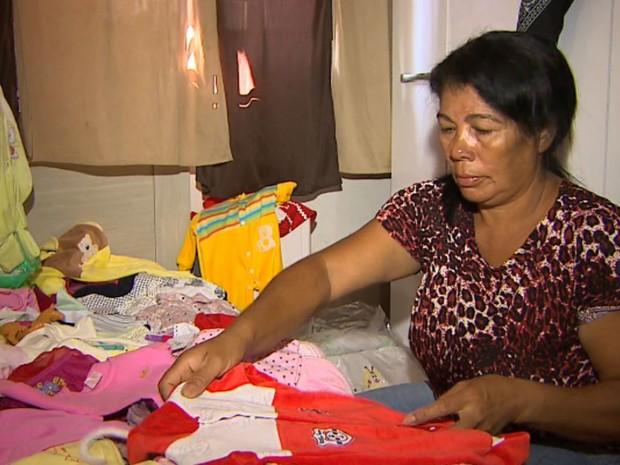 Mãe de Valíssia Fernandes de Jesus, morta na quarta-feira, em Pitangueiras (SP) (Foto: Reprodução/EPTV)
