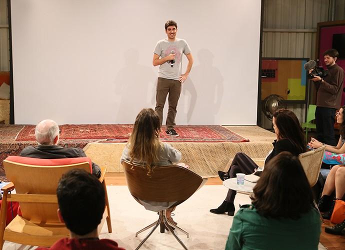 Marcelo Adnet fala de humor no Globo Lab (Foto: Gianne Carvalho / TV Globo)