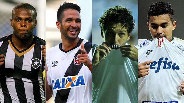 Botafogo x Vasco e Santos x Palmeiras decidem, respectivamente, os campeonatos Carioca e Paulista (Foto: globoesporte.com)