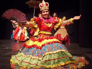 Balé Popular da UFPB abre a série de apresentações (Foto: Maurício Germano)