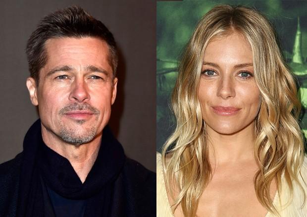 Brad Pitt e Sienna Miller (Foto: Getty Images)
