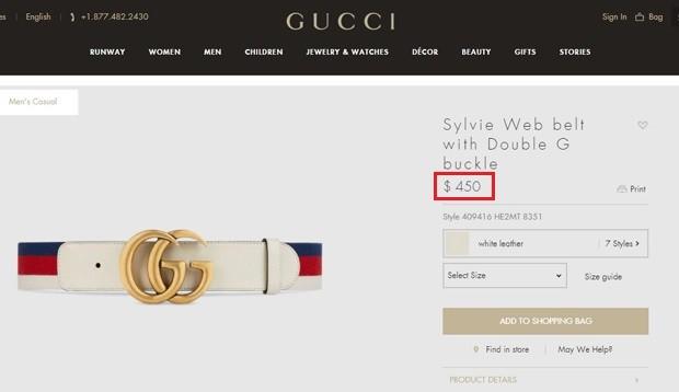 Simaria usou cinto da Gucci de 450 dólares (Foto: Reprodução)