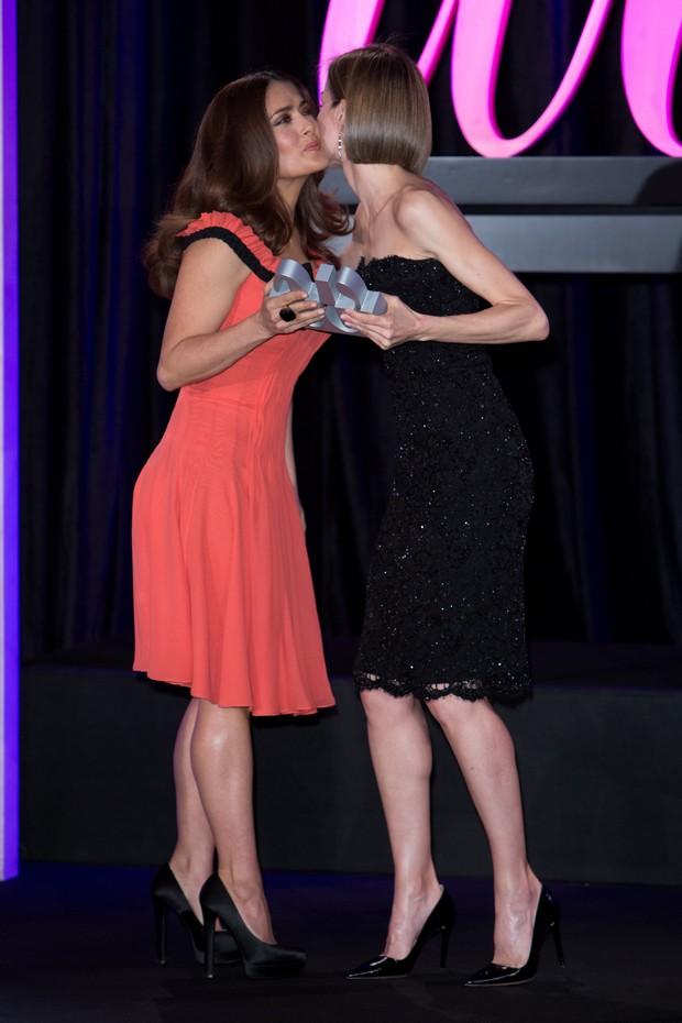 Rainha Letizia da Espanha e Salma Hayek  (Foto: Getty Image)