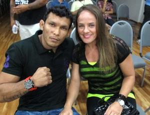 Carina Damm e Luis Sapo Jungle Fight 45 (Foto: Ivan Raupp / Globoesporte.com)
