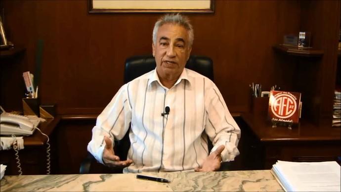 Léo Almada, presidente do America (Foto: Reprodução)