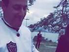Daniel de Oliveira comemora vitória do Atlético-MG durante casamento