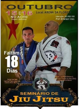 AAJJ realiza seminário de Jiu-jítsu na Arena da Floresta  (Foto: Emerson Melo / divulgação)