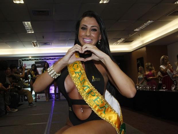 Thais Eid, de Sergipe, vence o concurso Musa do Brasil em São Paulo (Foto: Celso Tavares/ EGO)
