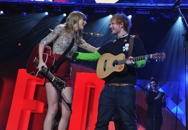 Ed Sheeran e Taylor Swift (Foto: Getty Images)