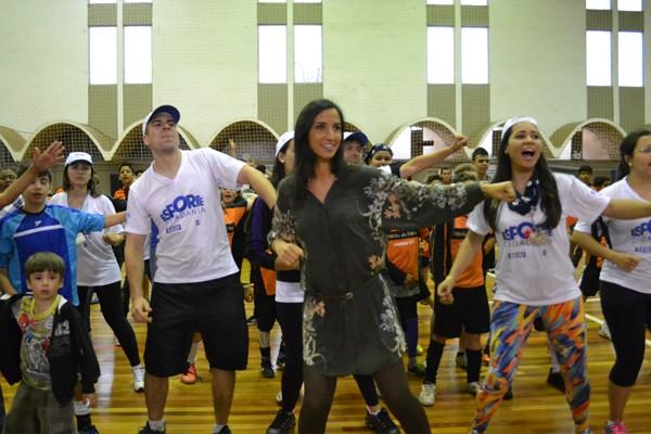 Comunicadores da RBS TV participaram das atividades (Foto: Rafael Duardes/RBS TV)