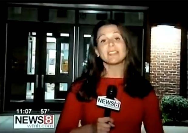 Erica Grow fazia reportagem sobre abuso infantil em escola. (Foto: Reprodução)