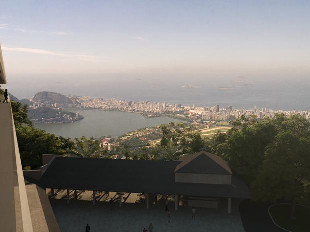 Centro de Visitação terá vista para a Zona Sul do Rio (Foto: Divulgação / Paineiras-Corcovado)
