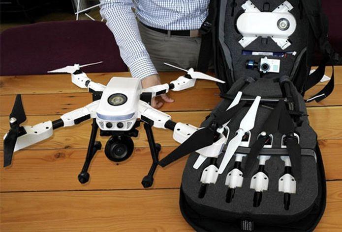 A mochila Plexi-Pack, do PlexiDrone, que serve para guardar o robô (Foto: Divulgação)