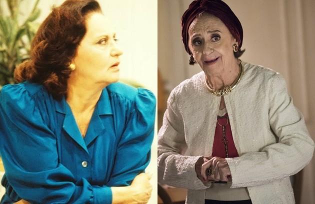 Na trama de Walther Negrão, Laura Cardoso foi Marta, uma cafetina que criou Cláudia (Malu Mader) como se fosse sua filha. O último trabalho da atriz na TV foi em 'Sol nascente' (Foto: TV Globo)