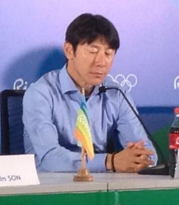Son Heungmin atacante da Coreia do Sul (Foto: Ruan Melo)