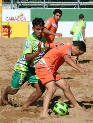 Pedro Canário e Viana futebol de areia ES (Foto: Pauta Livre/Divulgação)