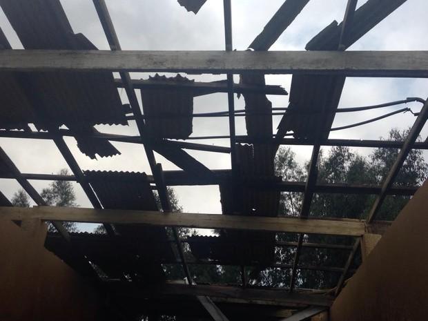 Vendaval e granizo causaram estragos em propriedades rurais de Antônio Olinto (Foto: Giovan Valiati/RPC)