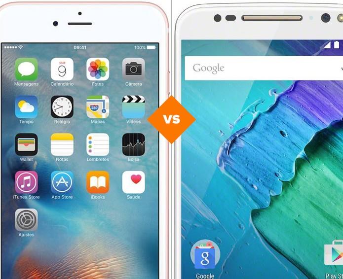 Confira o comparativo entre o iPhone 6S Plus e o Moto X Style (Foto: Arte/TechTudo)