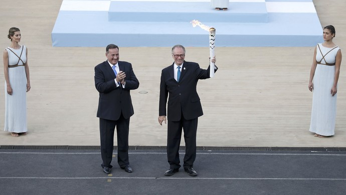 Cerimônia Tocha Olímpica Atenas Nuzman (Foto: Reuters)