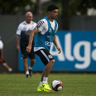Renato em treino do Santos (Foto: Ivan Storti/Divulgação SFC)