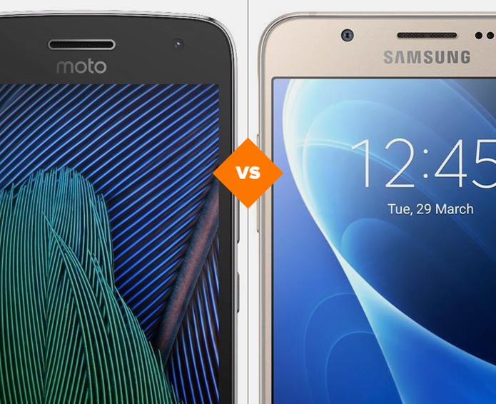 Moto G5 e Galaxy J5 Metal (Foto: Arte/TechTudo)